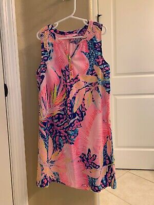 $23.50 • Buy Lilly Pulitzer Girl's Mini Essie Dress- Off The Grid Size Large