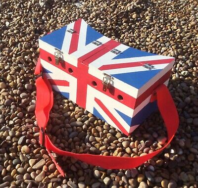 Double Flag Painted Bow Back Ferret Box Ferreting Rabbiting Hunting • 45£