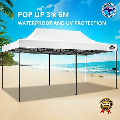 AU81.95 • Buy 3x6m Pop Up Gazebo Replacement Roof Outdoor Wedding Tent Garden Marquee White