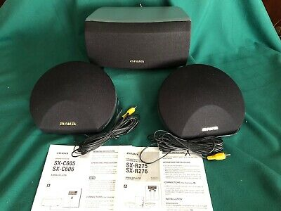$30 • Buy AIWA SX-C605 Center Speaker W/(2) SX-R275 Surround Sound Speakers-EC