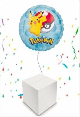 Pokemon Happy Birthday Helium Inflated Foil Balloon In A Box. Childrens • 15.99£