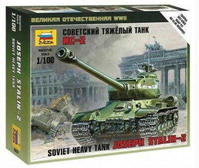 AU9 • Buy Zvezda Models 1/100 (Snap-Fit) WWII Soviet Heavy Tank Joseph Stalin-2