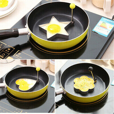 $4.99 • Buy Ring Mold KitchenTool Device Stainless Steel Pancake Non Stick Fried Egg Cooking