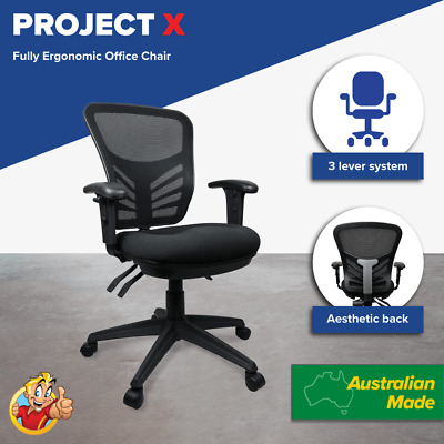 AU337 • Buy Mesh Chair Posture Comfort Office Chairs Ergonomic Soft Seating Adjustable Arms
