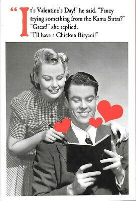 Valentine's Day Card Husband Wife Kama Sutra Position Indian Takeaway Menu Rude • 2.50£