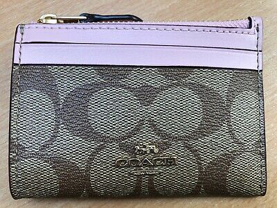 £42.99 • Buy COACH New York Signature Skinny Mini ID Card Holder Purse Wallet Leather RRP £85
