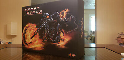 $500 • Buy Hot Toys MMS133 Marvel Ghost Rider With Hellcycle - Complete W/Box, Nicolas Cage