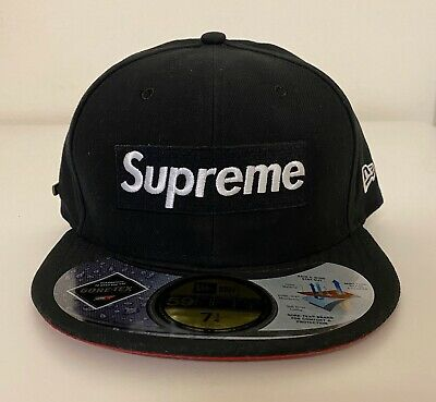 $ CDN405.01 • Buy Supreme Gore-Tex New Era 2013 Box Logo Fitted Hat 7 1/4 Cap Black White Red NEW!