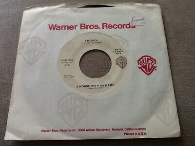 America 7in Single Horse With No Name - Co Sleeve Offers Invited • 4.95£