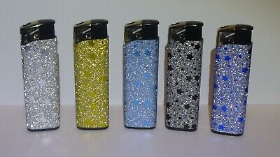 £3 • Buy 5 X  SHINY STARS  LIGHTERS DISPOSABLE ELECTRONIC  LIGHTER