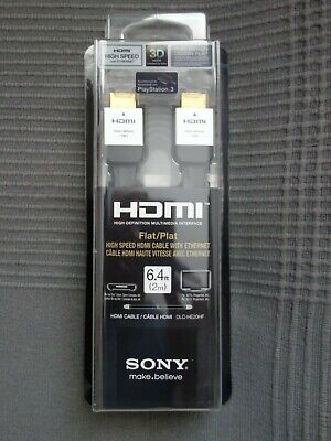 £43.15 • Buy OEM Sony DLC-HE20HF FLAT High-Speed HDMI Cable WITH ETHERNET 6'4  (2 M)