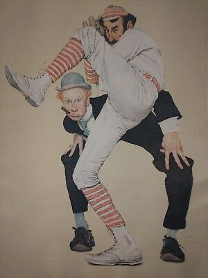 $ CDN21.04 • Buy Vintage 1972 Art Norman Rockwell Lithograph On Canvas  Low And Inside  1939