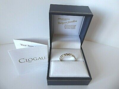 Clogau Gold, Silver & 9ct Rose Gold Life Affinity Stacking Ring, Size N RRP £99 • 58£
