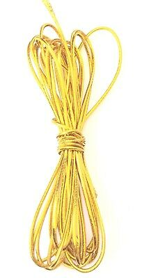 $ CDN6.37 • Buy 2mm Beading Gold Round Elastic Stretchy Cord 5 Yards