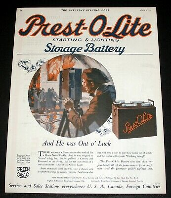 £9.22 • Buy 1921 Old Magazine Print Ad, Prest-o-lite Storage Battery, Camera-man, Movie Art!