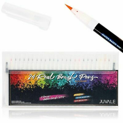 $14.99 • Buy 26 Pack Brush Pen Set, 24 Brush Pens Colors And 2 Watercolor Brush Pens, 6 Inch