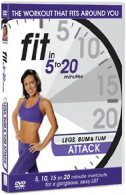 Fit In 5 To 20 Minutes: Legs Bum And Tum Attack DVD NEW • 4.45£