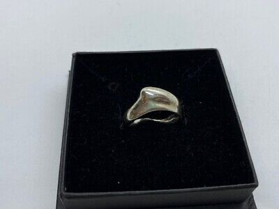 Lovely Tiffany Elsa Peretti Silver Stacking Heart Ring Size L (6)  • 75£