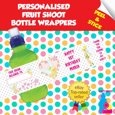 £2.10 • Buy 7 Personalised Tinkerbell Birthday Party Self Adhesive Fruit Shoot Wrappers
