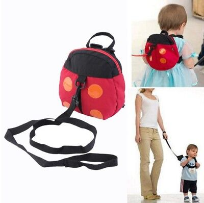 Childrens Toddler's Ladybird Backpack With Safety Reins New Child Rucksack Bag  • 7.95£