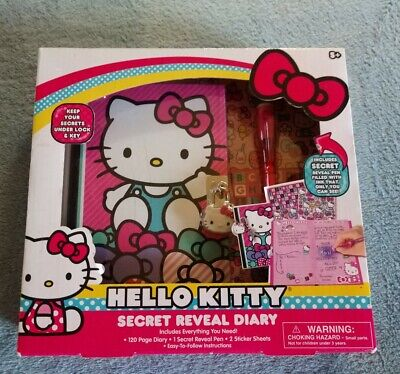 AU30.08 • Buy Brand NEW ~ Hello Kitty Secret Reveal Diary With Lock - New / Sealed ~ 120 Pages