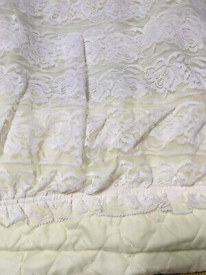 $37 • Buy Vintage Yellow & Lace Bassinet Cover Skirt