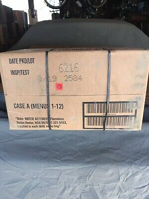 $140 • Buy 08/ 2019 Inspection Date, US Military MRE A Case