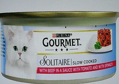 Purina ' Gourmet Solitaire ' X 24 Multi-Pack ' Beef In Sauce ' Variety • 34.95£