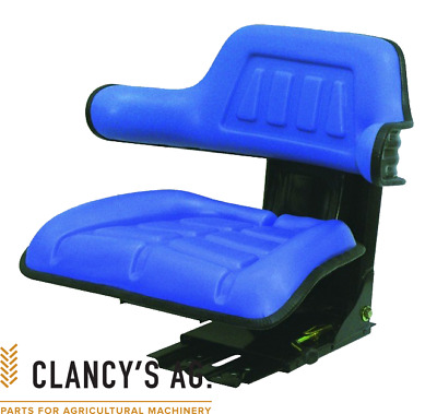 AU149 • Buy New Tractor Seat. Blue. Universal Suspension Seat. Suits Ford, Massey And More!