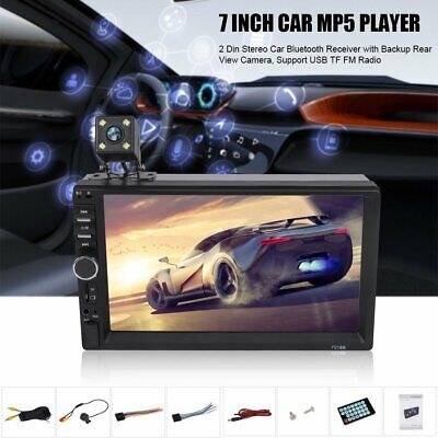 7  Double DIN Car FM Stereo Radio USB AUX MP5 Player Touch Bluetooth With Camera • 29.89£