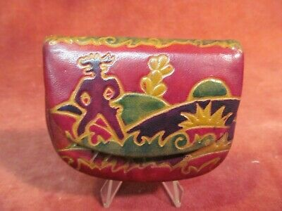 $4.88 • Buy Vintage Colorful Leather Ladies Coin Purse