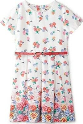 Girls Age 11-12 Years Yumi Floral Dress With Belt BRAND NEW WITH TAGS • 15£
