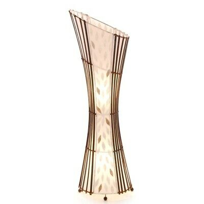 Bamboo & Flower Shell Lamp/Handcrafted/Floor Lamp/Rattan/Contemporary/100cm • 89.99£