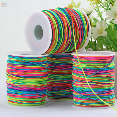 $ CDN13.41 • Buy 65/85/100m Elastic Cord Beading Thread Stretch String Colorful Jewelry Making