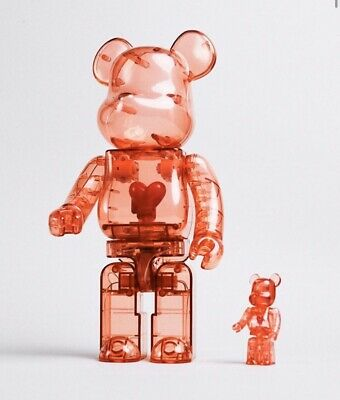 $700 • Buy Bearbrick Emotionally Unavailable-Red Heart Set- 400%x100%