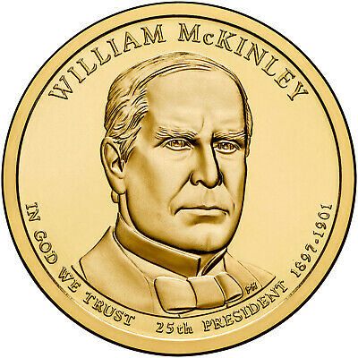 $4.56 • Buy 2013-D William McKinley Presidential Dollar Coin - Uncirculated From Mint Roll
