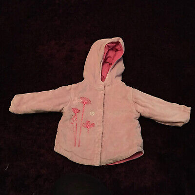Marese Baby Reversible Coat Jacket 3 Mths Cord Pink Used  • 3£