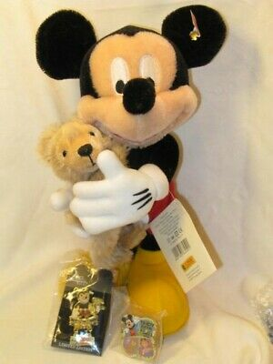 $1980 • Buy WDW 2006 Limited Mickey Mouse With Duffy With 2 Pins Steiff Bear Rare From Japan