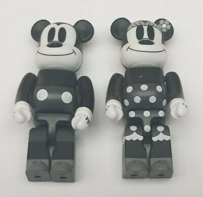 $49.99 • Buy Mickey Mouse & Minnie Mouse Black And White B&W Bearbrick Figure Set MEDICOM