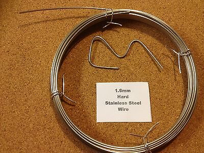 1.6mm X 1m 16 SWG Stainless Steel Wire Floristry Craft Bonsai Fishing Lures • 1.65£