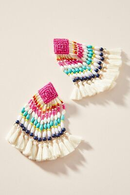 $ CDN50.67 • Buy  Anthropologie BaubleBar Rosa Fringed Drop Earrings New With Tag Nwt