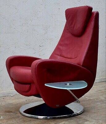 Rare De Sede Ds 220 Red Leather Electric Swivel Reclining Chair & Side Table • 2,250£