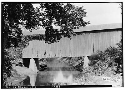$ CDN15.55 • Buy Jack's Mill Covered Bridge,Henderson Creek,Oquawka,Henderson County,IL,HAB 1982