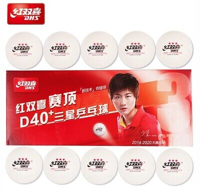 AU10.90 • Buy DOUBLE HAPPINESS D40+ 3 Stars Table Tennis Balls Pack Of 10