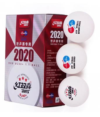 AU12.70 • Buy DOUBLE HAPPINESS 40+ 3 Stars Table Tennis Balls Pack Of 6