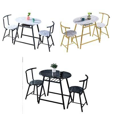 3 Pcs Dining Table & Chairs Set Breakfast Bar Table Workstation For Small Space  • 65.99£