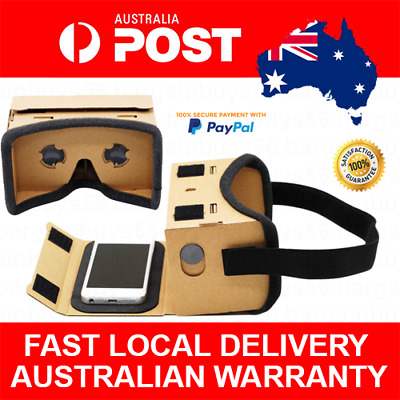 AU16.17 • Buy Padded Google Cardboard Virtual Reality VR Headset 3d Glasses For Android IOS