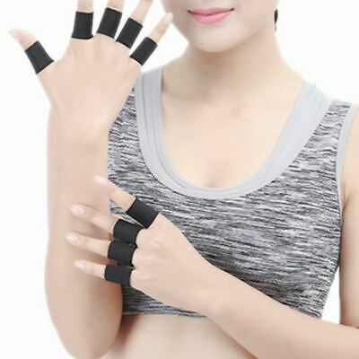 AU7.20 • Buy Finger Protector Sleeve Support Basketball Sports Aid Arthritis Band Wraps X 10