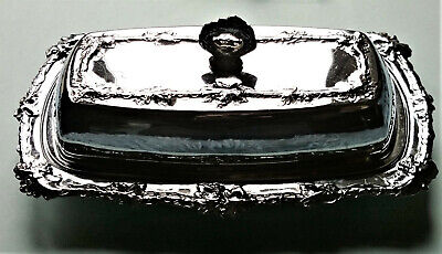 Celtic Quality Vintage Lidded Silver Plated Butter Dish Tableware Afternoon Tea  • 11.95£