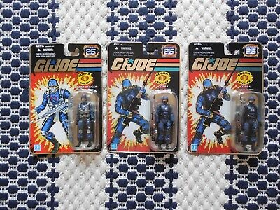 $ CDN83.13 • Buy Gi Joe 25th Anniversary Foil Cobra Officer The Enemy Lot X 3